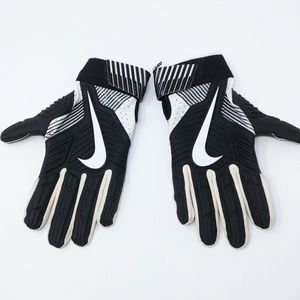 Nike D-Tack 5 Lineman Football Gloves Black White